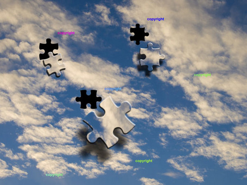 Product picture Jigsaw Sky - blue